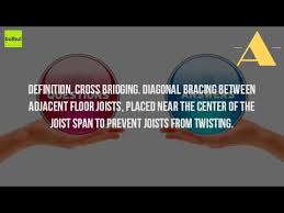 Floor Joist Span Definition by What Is Bridging In Construction Youtube