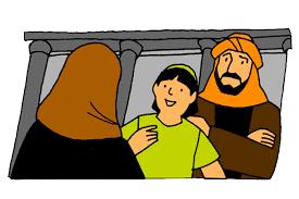Boy Jesus Visits The Temple