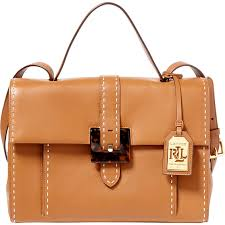 lauren ralph lauren heyworth carson medium leather satchel