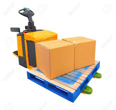 A Forklift Truck (also Called A Lift Truck, A Fork Truck, Or.. Stock ...