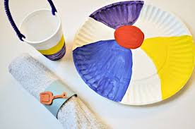 Beach Crafts For Kids To Make As Dinnerware