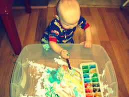Messy Art With Infants And Toddlers