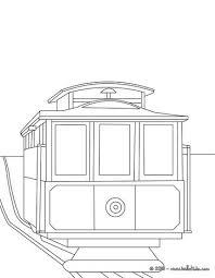 San Francisco Tramway Coloring Page