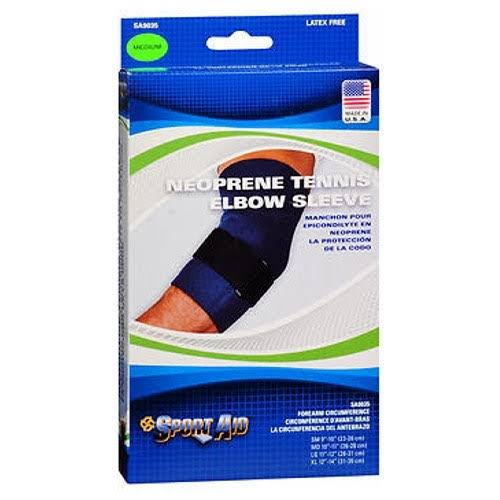 Sport-Aid Neoprene Tennis Elbow Sleeve Strap Support - Medium, Blue