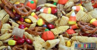 Pumpkin Spice Chex Mix With Candy Corn by Salty U0026 Sweet Pumpkin Spice Harvest Chex Mix