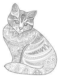 Cat Stress Relieving Coloring Book For Adults