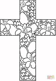 Detailed Christian Coloring Pages For Girls With Flowers