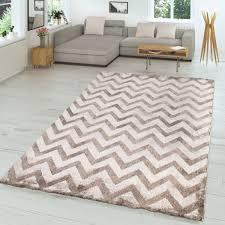 wohnzimmer teppich zickzack look glänzend