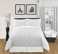 Bedroom Gray Bed With White Bedding pictures decorations
