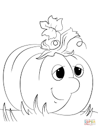 Pumpkins Coloring Pages Free Throughout Printable Pumpkin