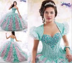 2016 quinceanera dresses mint pink mix colors formal u0027s