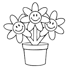 Download Coloring Pages Flower Pot Page Free Of Pots The Best