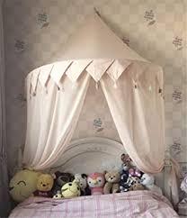 hayisugal betthimmel für kinder babys bett kuppel hängende moskiton für schlafzimmer kinderzimmer spielzelte deko rosa quaste chiffon s 110 50cm