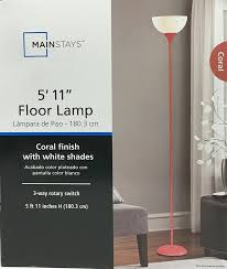Coral Colored Decorative Items by Mainstays Metal Floor Lamp Coral Amazon Com