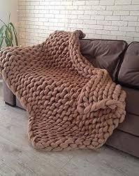 inobxr grob decke gestrickte kuscheldecke strick kuscheldecke handgefertigtes chunky wolldecke für schlafzimmer wohnzimmer matte