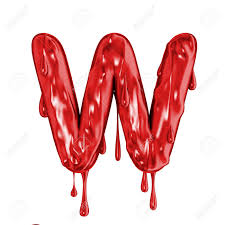 Blood Font Halloween Horror Letter W Stock Photo Picture And