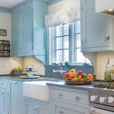 Light Blue Subway Tile by Pine Wood Classic Blue Prestige Door Light Kitchen Cabinets