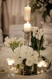 White Spring Wedding Centerpiece