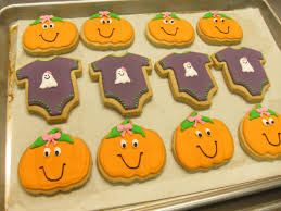 Quotes For Halloween Invitation by Halloween Baby Shower Onesie Cookies Baby Shower Ideas