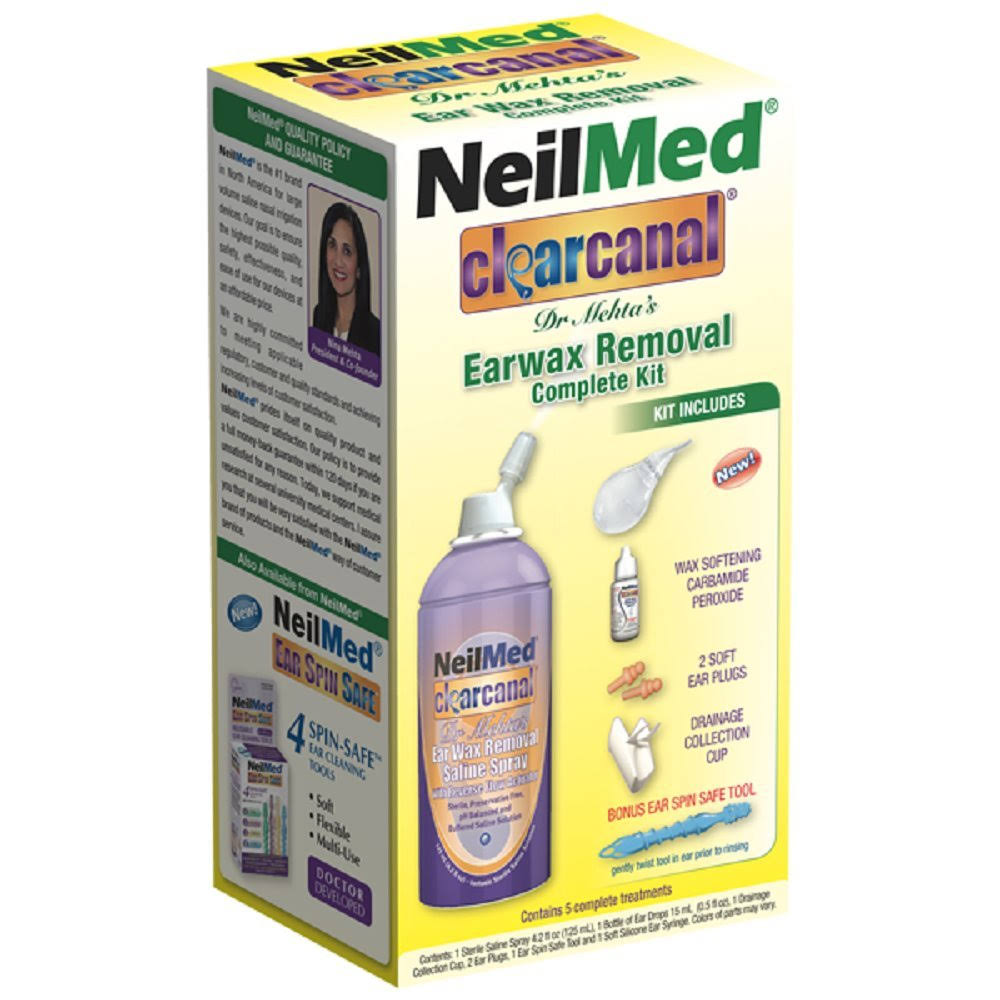NeilMed Clearcanal Dr. Mehta's Earwax Removal Complete Kit - 5pc