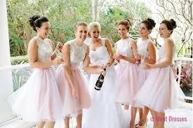 White Bridesmaid Dresses Short Bridesmaid Gown Summer Bridesmaid