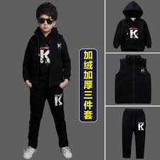 Childrens Clothing Boys Fall And Winter Suit 2017 New 10 Children 12 Plus Velvet Thick Sweater