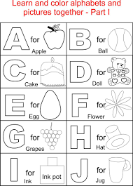 Alphabet Part I Coloring Printable Page For Kids Alphabets Within Free Pages