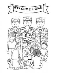 Welcome Home Soldiers Veterans Day Coloring Page Free Within Pages