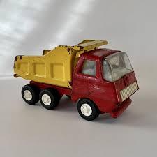 100 Tonka Mini Trucks Vintage Diecast TONKA Red And Yellow Dump Truck 1970s Mound