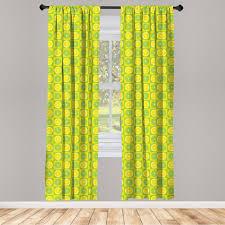 gardine fensterbehandlungen 2 panel set für wohnzimmer schlafzimmer dekor abakuhaus lime green lemon lime pop kaufen otto