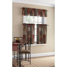 Lace Curtains Panels With Attached Valance by Carly Lace Panels With Attached Valances Ivory Set Of 2