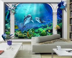 chambre dauphin 3d wallpaper poster papier peint 3d fond marin dauphin