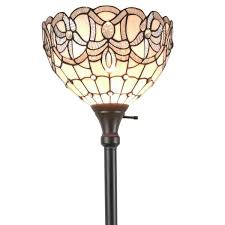 Tiffany Style Torchiere Floor Lamps by Amora Lighting Am284fl12 Tiffany Style White Torchiere Floor Lamp