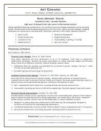 Sample Banking Industry 341 Resume