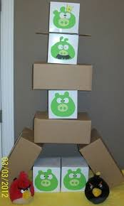 Angry Birds Game Out Of Cardboard Boxes So Much Better Than The That