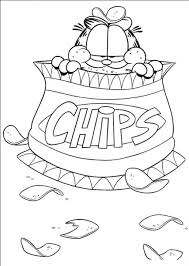 Free Garfield Coloring Pages Print