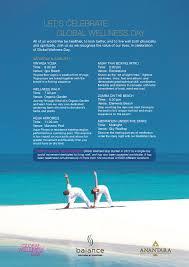 100 Anantara Kihavah Maldives Program Global Wellness Day