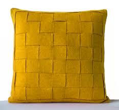 Oversized Throw Pillows Canada by Mustard Pillow Felt Weave Pillows Decorative Throw Pillow