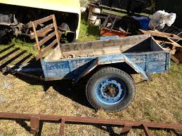 After Stripping It I Increased The Floor Space Of Trailer By Bolting A Large Steel Roof Rack Cargo Carrier To Old Frame