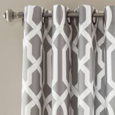 Lush Decor Window Curtains by Edward Trellis Gray 95 Inch X 52 Inch Panel Pair Lush Decor Panels