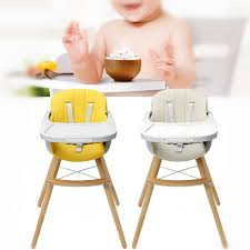 Details About Baby High Chair Adjustable Wood Kid Toddler Childcare  Highchair Feeding Tray
