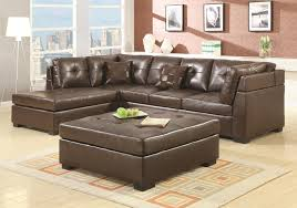 Dark Brown Leather Couch Living Room Ideas by Modular Brown Leather Sectional Sofa With Chaise And Backrest Also