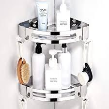 crosofmi duschregal ohne bohren duschablage eckregal duschkorb für badezimmer edelstahl 304 dreieck 2 packungen