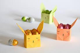 DIY Origami Easter Bunny Candy Boxes Via Kdesignpapierblogspotru