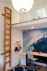 loft bed with desk underneath in Kids Contemporary with Boat Bed