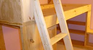 Build Loft Bed Ladder by How And Why I Built My Kids A Bunk Bed Instead Of Buying One