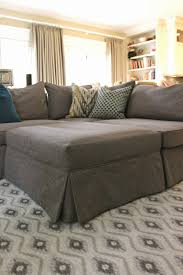 Custom Slipcovers For Sectional Sofas by Custom Slipcovers By Shelley Grey Tweed Sectional
