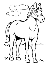 Cartoon Horses Coloring Pages