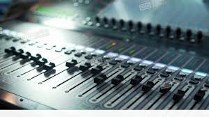 Music Studio Audio Mixer Digital Sound In The Stock Video Footage
