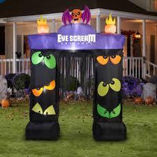 Halloween Inflatable Haunted House Archway by Gemmy Airblown Inflatable 9 5 U0027 X 7 U0027 Archway Eye Scream Halloween